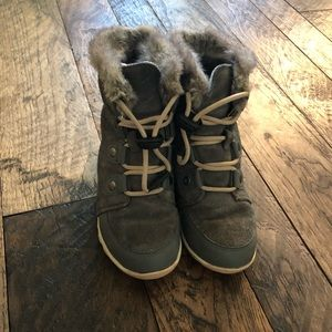Girls Sorel Whitney Suede Lace Up Boots